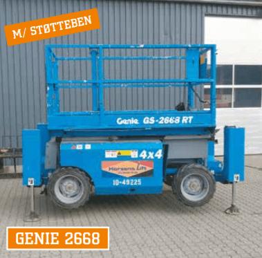 Genie 2668 saxlift med støtteben